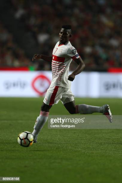 Switzerland forward Breel Embolo during the match between Portugal and Switzerland for FIFA 2018 World Cup Qualifier at Estadio da Luz on October 10...