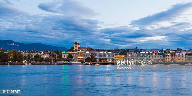 Switzerland, Geneva, cityscape with Saint-Pierre cathedral at Lake Geneva