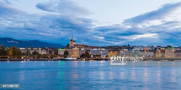 Switzerland, Geneva, cityscape with Saint-Pierre cathedral at Lake Geneva