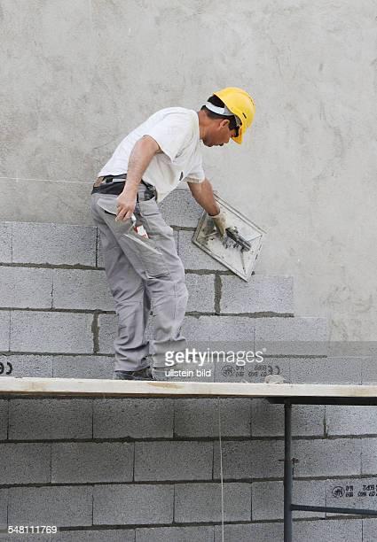 Switzerland Genf Geneve Geneva Worker at a construction site