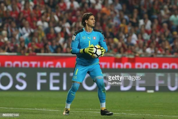 Switzerland goalkeeper Yann Sommer during the match between Portugal v Switzerland FIFA 2018 World Cup Qualifier match at Luz Stadium on October 10...