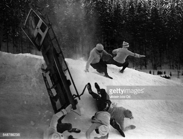 switzerland graubuenden winter sport in st moritz bobsled a seroious accident ca 1917. Black Bedroom Furniture Sets. Home Design Ideas
