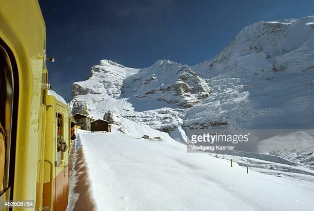 Switzerland Interlaken Train From Jungfrau Joch Eiger Mountain