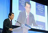 DAVOS Switzerland Japanese Prime Minister Naoto Kan makes a speech at the annual meeting of the World Economic Forum in the Swiss resort of Davos on...