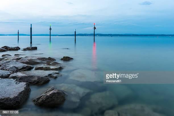 Switzerland, Lake Constance, harbor entrance in Altnau