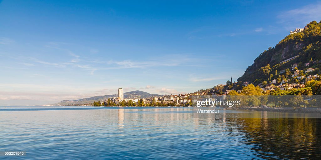 Switzerland, Lake Geneva, Montreux, cityscape