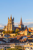 Switzerland, Lausanne, cathedral Notre-Dame