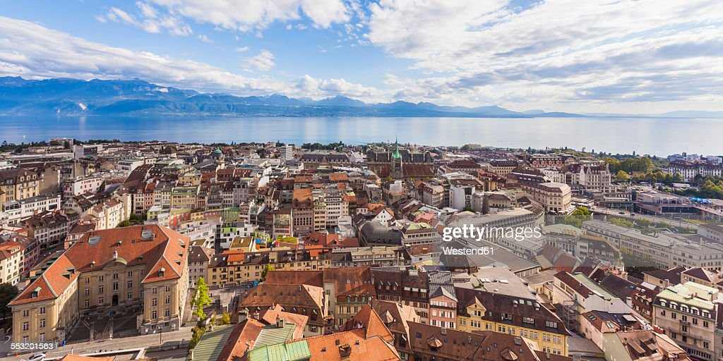 Switzerland, Lausanne, cityscape