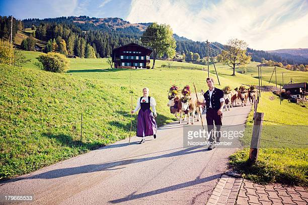 Switzerland: Leading the cows to annual County Fair