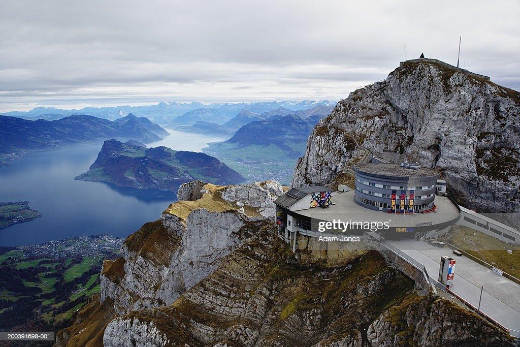 Switzerland, Lucerne, Lake Lucerne, view from Pilatus Mountain : Stock Photo