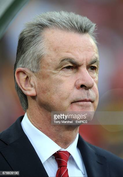 Switzerland manager Ottmar Hitzfeld on the touchline