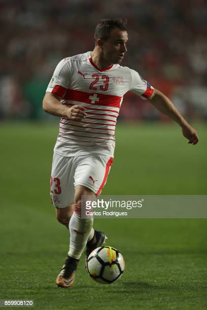Switzerland midfielder Xherdan Shaqiri during the match between Portugal and Switzerland for FIFA 2018 World Cup Qualifier at Estadio da Luz on...