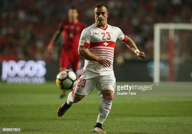 Switzerland midfielder Xherdan Shaqiri in action during the FIFA 2018 World Cup Qualifier match between Portugal and Switzerland at Estadio da Luz on...