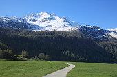 Switzerland, Mountain and road