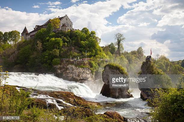 Switzerland, Schaffhausen, Rhine falls with Laufen Castle