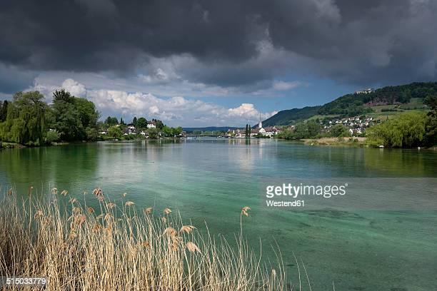 Switzerland, Thurgau, Eschenz, View to Stein am Rhein
