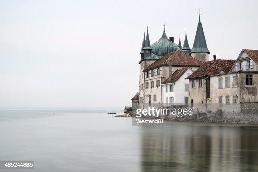 Switzerland, Thurgau, Steckborn, Turmof at Lake Constance