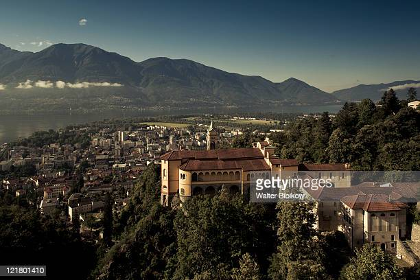 Switzerland, Ticino, Lake Maggiore, Locarno, Madonna del Sasso Church