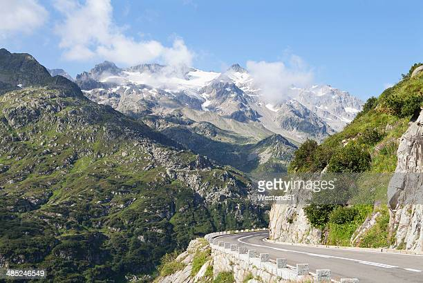 Switzerland, Uri Alps, Susten Pass, Empty mountain road