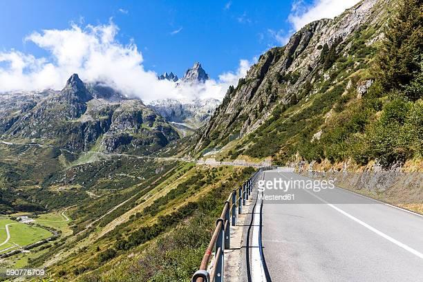 Switzerland, Uri Alps, Susten Pass, Empty mountain road