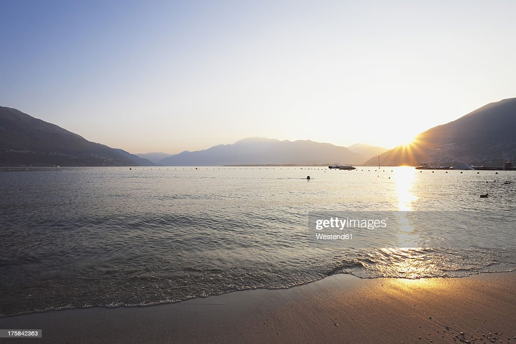 Switzerland, View of Lago Maggiore