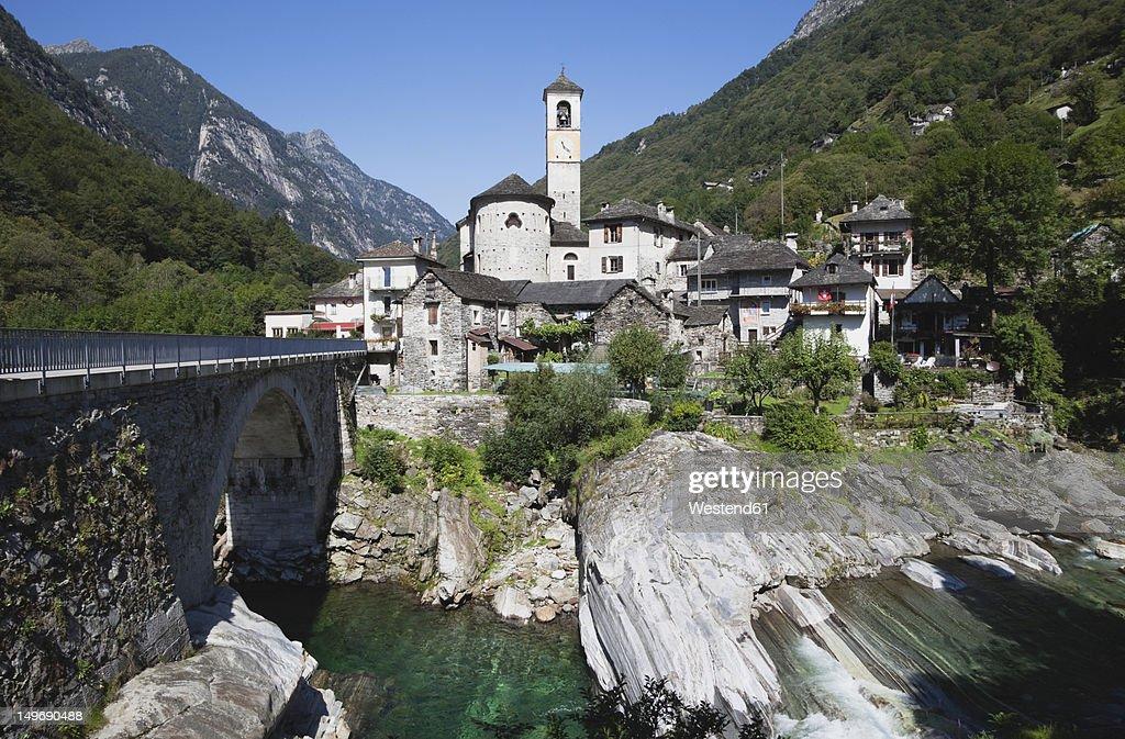 Switzerland, View of  Lavertezzo village