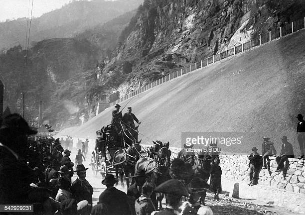 Switzerland Wallis BrigGlis Opening of the Simplontunnel between Switzerland and Italy Published by 'Berliner Illustrirte Zeitung' 16/1905 Vintage...