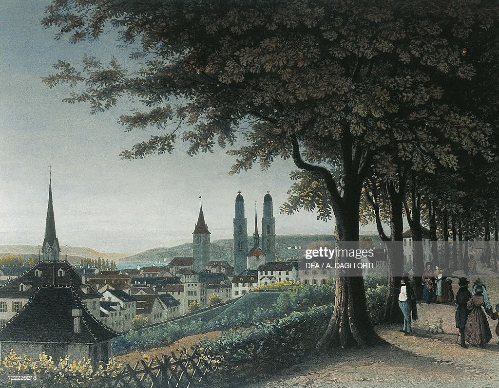 Germany Bayreuth View Of Zurich Color Print Pictures