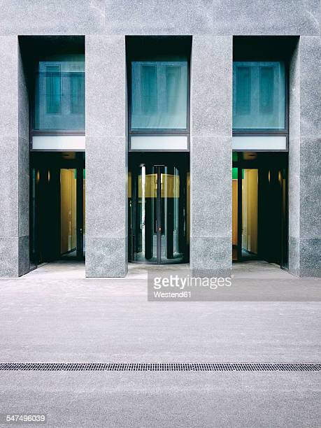 Switzerland, Zurich, entrance of modern building