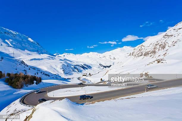 Switzerland,Cars passing through winding road