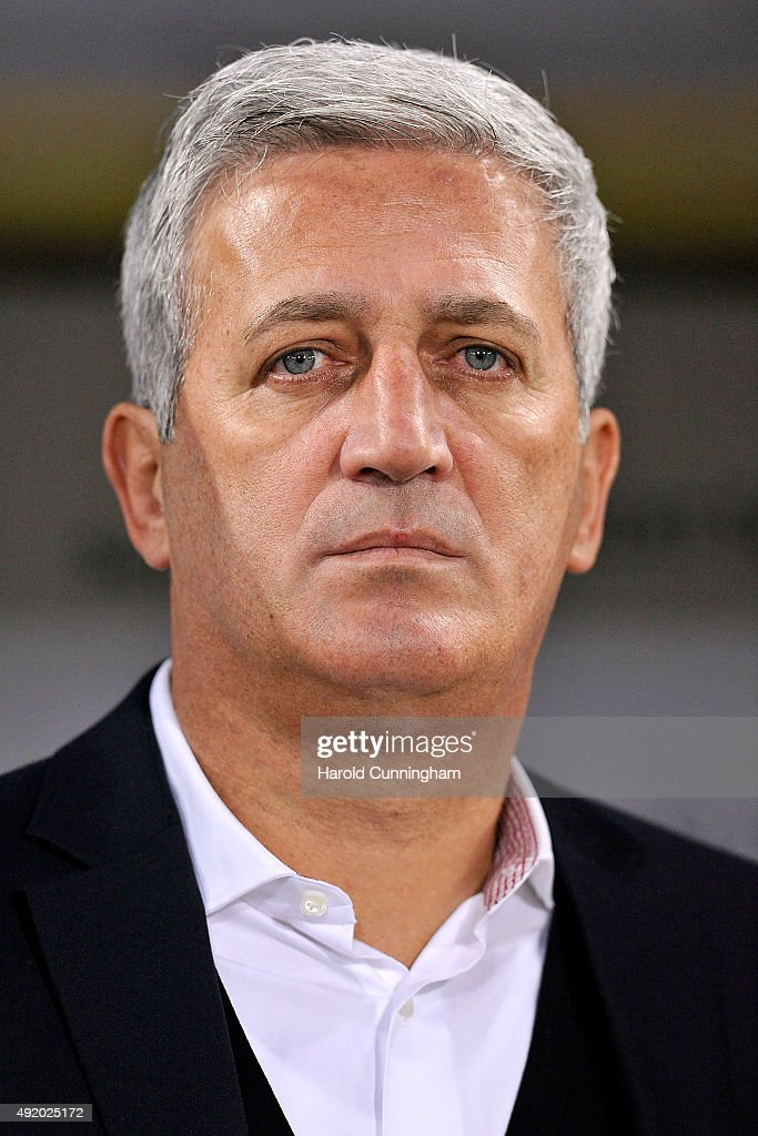 Switzerland's Coach Vladimir Petkovic looks on during the UEFA EURO 2016 qualifier between Switzerland and San Marino at AFG Arena on October 9, 2015 in St Gallen, Switzerland.