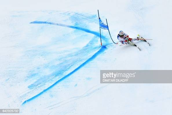 TOPSHOT Switzerland's Gino Caviezel competes in the second run of the men's giant slalom race at the 2017 FIS Alpine World Ski Championships in St...