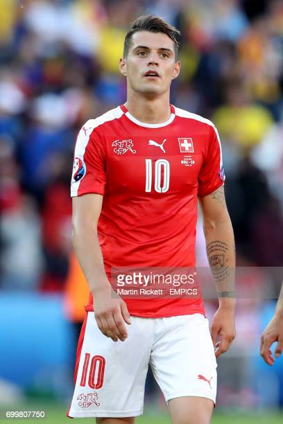 Switzerland's Granit Xhaka after the final whistle