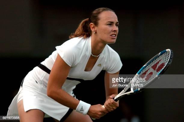 Switzerland's Martina Hingis in action