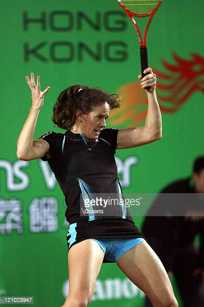 Switzerland's Patty Schnyder during the Gold Group singles semifinal match between Patty Schyder and Kim Clijsters in the Watsons Water Champions...