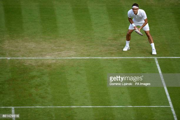 Switzerland's Roger Federer during his match against Ukraine's Sergiy Stakhovsky