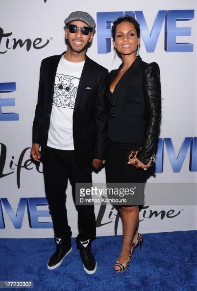 Swizz Beats and Alicia Keys attend the screening of 'Five' at Skylight SOHO on September 26 2011 in New York City
