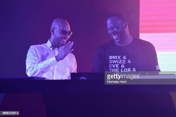 Swizz Beats and DJ Runna attend BACARDI Swizz Beatz and The Dean Collection bring NO COMMISSION back to Miami to celebrate 'Island Might' at Soho...