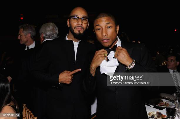 Swizz Beats and Pharrell Williams attend Keep A Child Alive's 10th Annual Black Ball at Hammerstein Ballroom on November 7 2013 in New York City