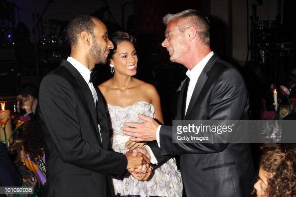Swizz Beatz Alicia Keys and Stephen Daldry attend the Keep A Child Alive Black Ball at held at St John's Smith Square on May 27 2010 in London England