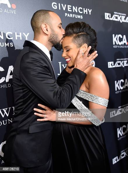 Swizz Beatz and Alicia Keys attend Keep A Child Alive's 11th Annual Black Ball at Hammerstein Ballroom on October 30 2014 in New York City