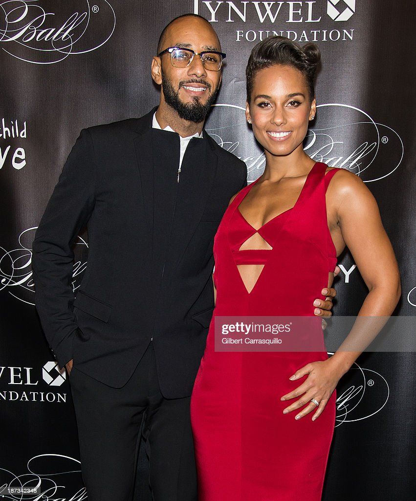 Swizz Beatz and Alicia Keys attend the 10th annual Keep A Child Alive Black Ball at Hammerstein Ballroom on November 7, 2013 in New York City.