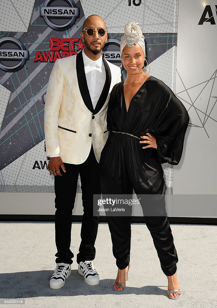 <a gi-track='captionPersonalityLinkClicked' href=/galleries/search?phrase=Swizz+Beatz&family=editorial&specificpeople=567154 ng-click='$event.stopPropagation()'>Swizz Beatz</a> and <a gi-track='captionPersonalityLinkClicked' href=/galleries/search?phrase=Alicia+Keys&family=editorial&specificpeople=169877 ng-click='$event.stopPropagation()'>Alicia Keys</a> attend the 2016 BET Awards at Microsoft Theater on June 26, 2016 in Los Angeles, California.