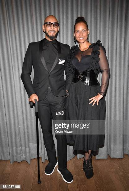 Swizz Beatz and Alicia Keys attend the 2017 Brooklyn Artists Ball at Brooklyn Museum on April 3 2017 in New York City