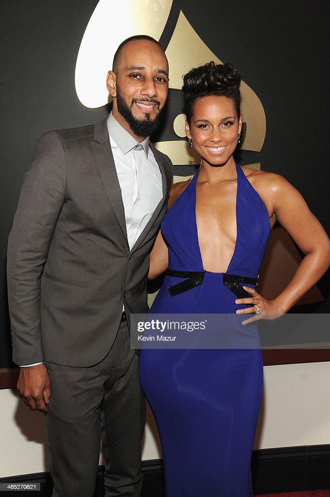 Swizz Beatz and Alicia Keys attend the 56th GRAMMY Awards at Staples Center on January 26 2014 in Los Angeles California