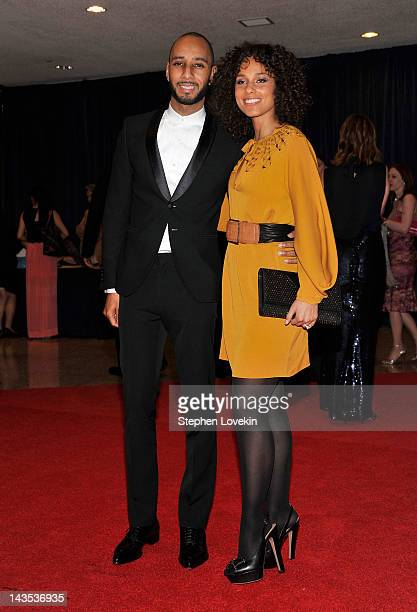 Swizz Beatz and Alicia Keys attend the 98th Annual White House Correspondents' Association Dinner at the Washington Hilton on April 28 2012 in...