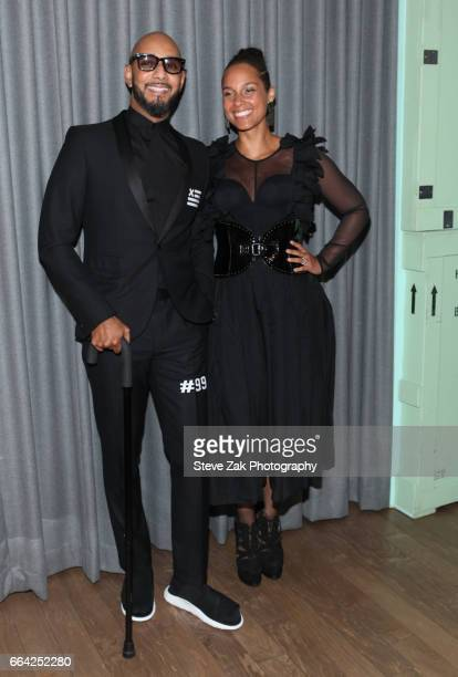 Swizz Beatz and Alicia Keys attend The Brooklyn Artists Ball 2017 at Brooklyn Museum on April 3 2017 in New York City