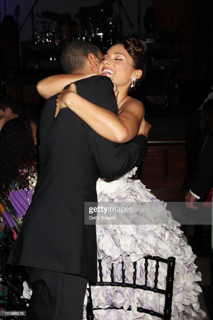 Swizz Beatz and Alicia Keys attend the Keep A Child Alive Black Ball at held at St John's, Smith Square on May 27, 2010 in London, England.