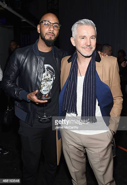 Swizz Beatz and Baz Luhrmann attend the Tidal launch event #TIDALforALL at Skylight at Moynihan Station on March 30 2015 in New York City