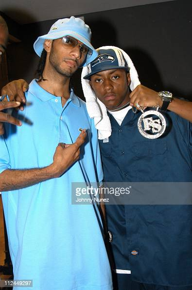 Swizz Beatz and Cassidy during Philadephia HipHop Summit at Liacouras Center in Philadelphia Pennsylvania United States